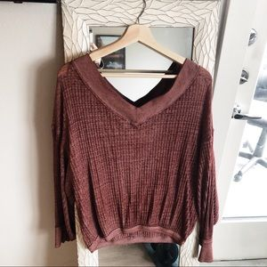 Waffle knit top by Free People